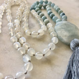 Aquamarine & Moonstone Mala - To Protect & Calm