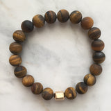 He Am I Men's Bracelet - Golden Tiger's Eye