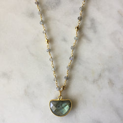 Embrace Change Necklace - Labradorite