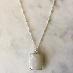 Goddess Rectangle Necklace - Moonstone