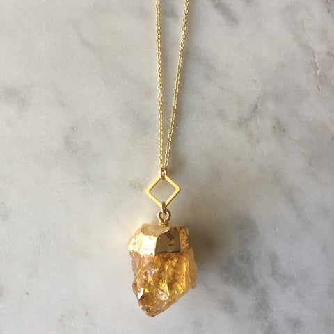 I Am Confident Necklace - Citrine