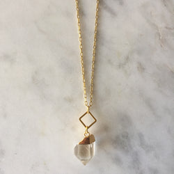 Clear Intentions Necklace - Clear Quartz