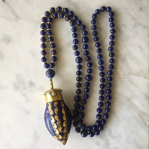 Lapis Lazuli Mala - Intuition & Self-Knowledge
