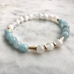 Threshold of Bliss - Moonstone & Aquamarine