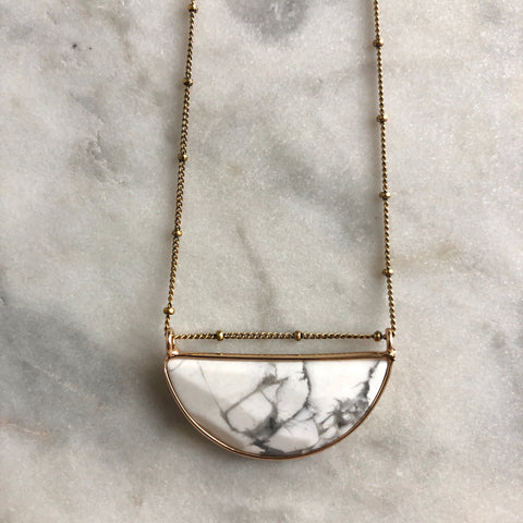 New Intentions Necklace - Howlite