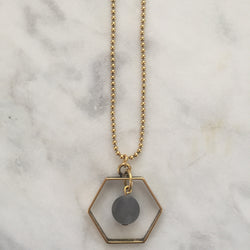 Satya Necklace - Grey Quartz