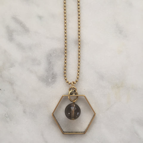 Satya Necklace - Smoky Quartz