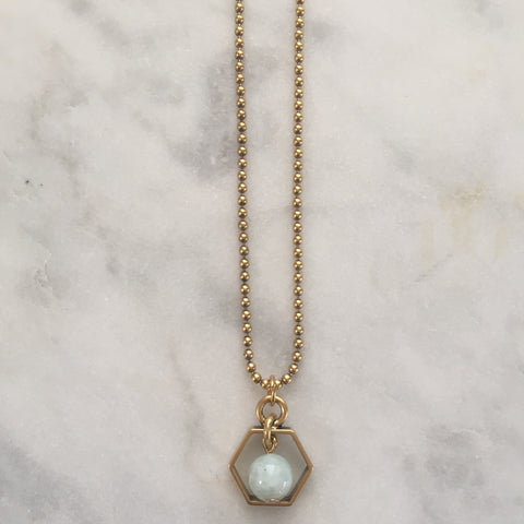 Satya Necklace Mini - Aquamarine