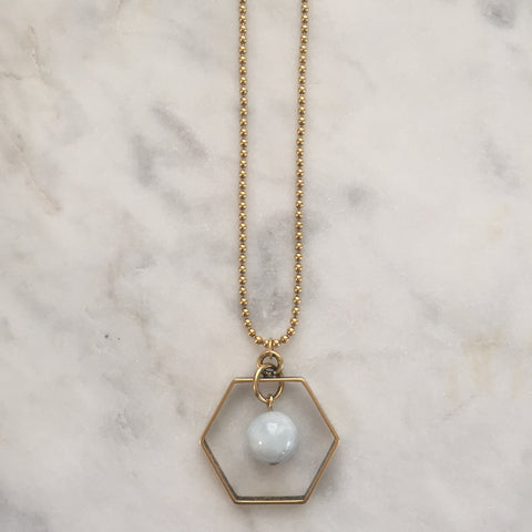 Satya Necklace - Aquamarine