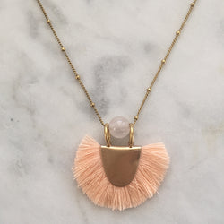 Prana Necklace - Rose Quartz
