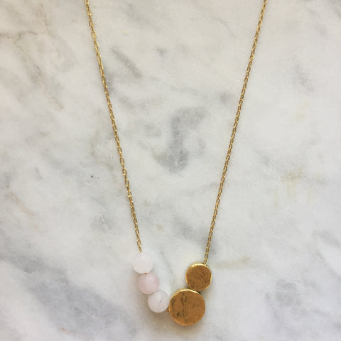 Balance Necklace - Rose Quartz
