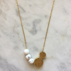 Balance Necklace - Howlite