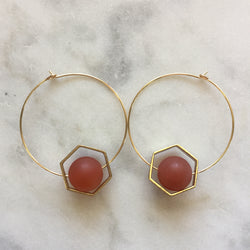 Satya Earrings - Carnelian