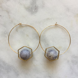 Satya Earrings - Iolite