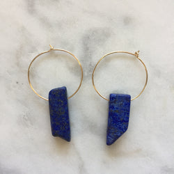 Superconscious Earrings - Lapis Lazuli
