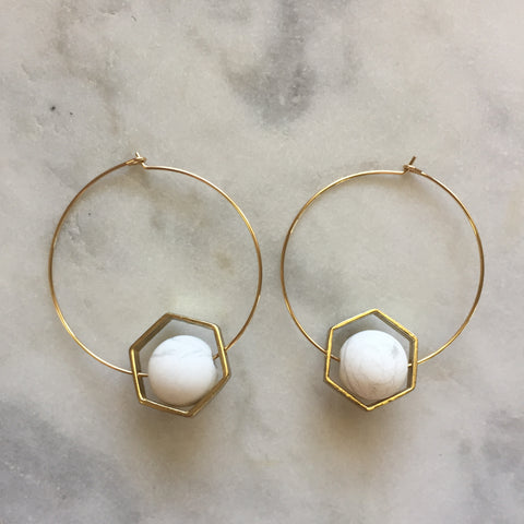 Satya Earrings - Howlite