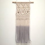 Citrine & Smoky Quartz Macrame Wall Hanging