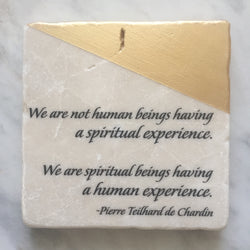 Marble & Gold Tile Adorned With Inspiration // Spiritual Beings, Human Experience