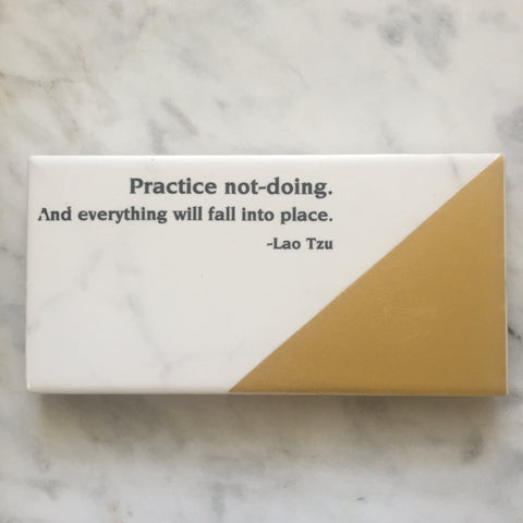 Marble Style Tile Adorned With Inspiration // Practice not doing
