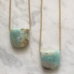 Courage My Love Necklace - Amazonite