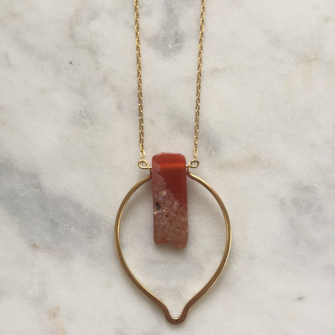 Dhyana Necklace - Carnelian