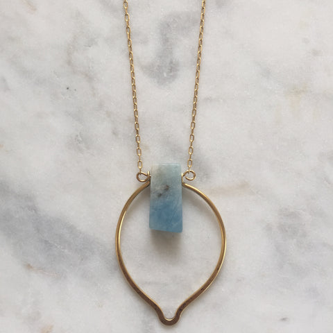 Dhyana Necklace - Aquamarine