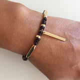 Red garnet vata and kapha balancing bracelet