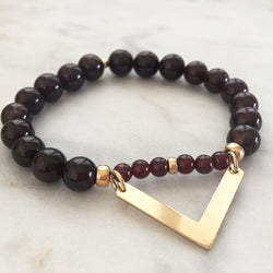 Movement with Intelligence Bracelet - Red Garnet