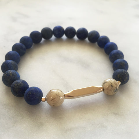 New Kind of Freedom Bracelet - Lapis Lazuli & Afrian Opal