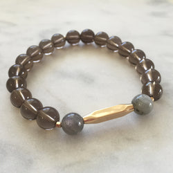 New Kind of Freedom Bracelet - Smoky Quartz & Labradorite