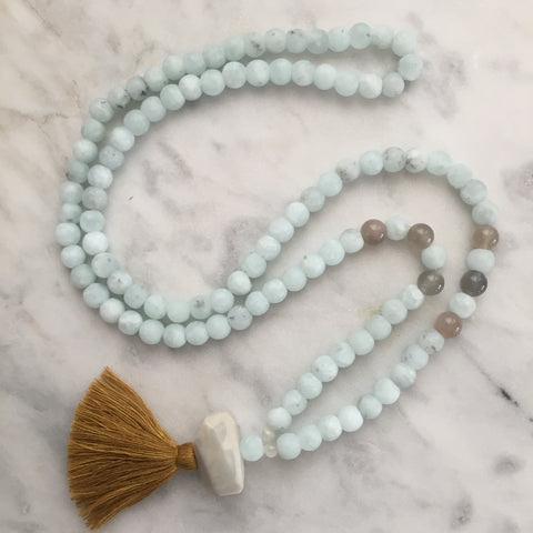 Prosperity Mala - Amazonite & Moonstone