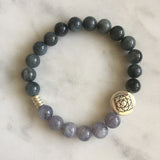Purity Bracelet - Cat's Eye & Iolite