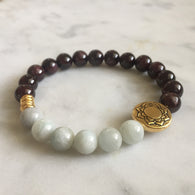 Purity Bracelet - Garnet & Aquamarine