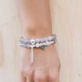 Moonstone aquamarine pitta balancing pregnancy support bracelets