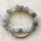 Still The Mind Bracelet - Grey Quartz