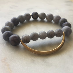 Still the Mind Bracelet - Matte Iolite