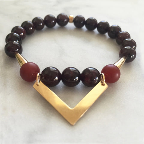 Symphony of Life - Red Garnet & Carnelian
