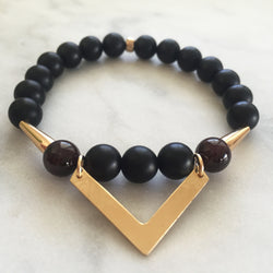 Symphony of Life - Onyx & Red Garnet