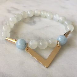 Symphony of Life - Moonstone & Aquamarine