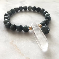 Thou Art That Bracelet - Cat's Eye & Clear Quartz