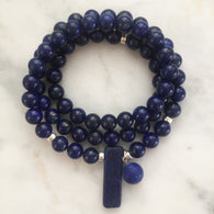 Thou Art That Necklace & Wrap Bracelet - Lapis Lazuli
