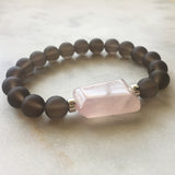 Universal Reality Bracelet - Smoky Quartz & Rose Quartz