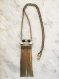 Amplify Necklace - Onyx & Clear Quartz