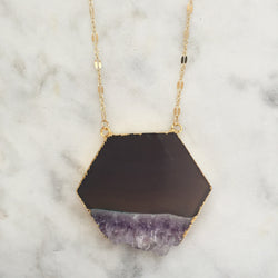 Illuminated Path Necklace - Amethyst