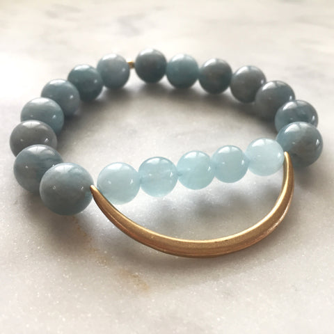 Still the Mind Bracelet - Aquamarine