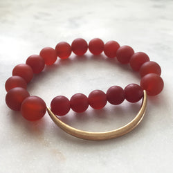 Still the Mind Bracelet - Carnelian