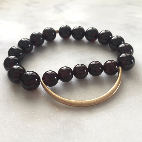 Still the Mind Bracelet - Red Garnet
