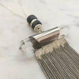 Supreme Gift Silver Necklace - Labradorite & Clear Quartz