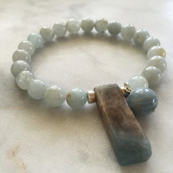Thou Art That Bracelet - Aquamarine