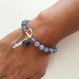 Thou Art That Bracelet - Iolite & Clear Quartz